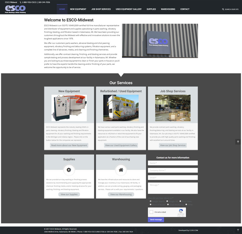 ESCO Midwest – Manufacturing and Warehousing